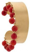 Aurelie Bidermann - bauble bangle - women - Gold Plated Brass - OS - RED