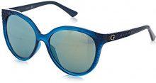 Guess GU7402, Occhiali da Sole Donna, Blu, 55