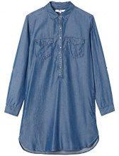FIND Denim Shirt Vestito Donna, Blu (Dark Indigo), 42 (Taglia Produttore: Small)
