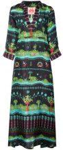 Le Sirenuse - print kaftan dress - women - Silk - 40 - BLUE