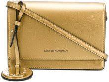 Emporio Armani - mini crossbody bag - women - Polyurethane - OS - METALLIC