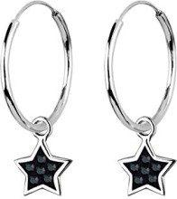 Elli 0305232011 - Orecchini a cerchio da donna con cristallo Swarovski, argento sterling 925