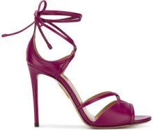 Aquazzura - Sandali 'Nathalie 105' - women - Leather - 39.5, 36, 38, 39 - PINK & PURPLE