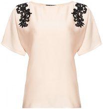 FIND Lace Trim Shoulder  Camicia Donna, Beige (Champagne), 46 (Taglia Produttore: Large)