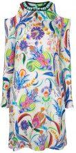 - Etro - Vestito a fantasia - women - glass/fibra sintetica/seta - 42, 46 - di colore bianco
