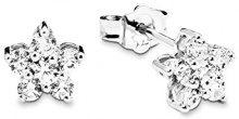 Amor Orecchini da donna stelle in argento 925rodiato con zirconi bianchi–381895