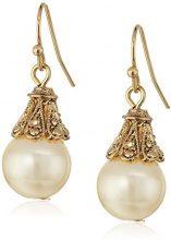 1928 Jewelry-perlina effetto perla, tonalità oro-Orecchini a goccia