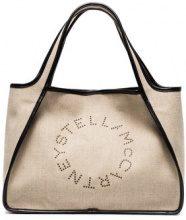 Stella McCartney - Borsa tote con logo - women - Artificial Leather - OS - NUDE & NEUTRALS