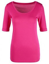 Marc Cain Collections JC 48.69 J14, T-Shirt Donna, Rosa (Pop Pink 268), 42 (Taglia Produttore: 2)