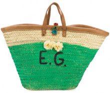 Ermanno Gallamini - Borsa Tote 'EG' - women - Straw - OS - GREEN