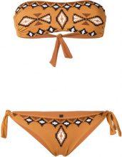Fisico - Bikini a fascia - women - Polyamide/Spandex/Elastane - XS, M, L - BROWN