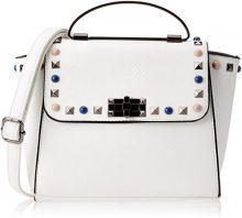 Swankyswans Pansy Mini Satchel Bag - Borse a tracolla Donna, Bianco (White), 11x22x28 cm (W x H x L)