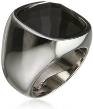 Donne-anello acciaio vetro Simona Tamaris Nero, acciaio inossidabile, 56 (17.8), colore: Silber /Schwarz, cod. A03710055