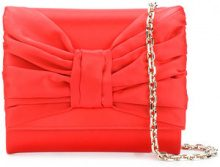 Casadei - Clutch con fiocco - women - Satin/Kid Leather - OS - RED
