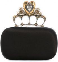 Alexander McQueen - Clutch 'Heart Knuckle box' - women - Silk/Viscose - OS - BLACK