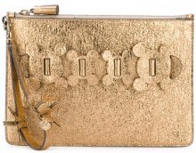 Anya Hindmarch - Circulus large pouch clutch - women - Calf Leather - OS - Metallizzato