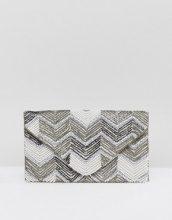 New Look - Pochette a busta con perline - Crema