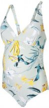 MAMA.LICIOUS Flower Printed Swimsuit Women Blue