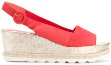 Hogl - Sandali con zeppa - women - Suede/Leather/rubber - 37, 37.5, 38, 38.5, 39, 40, 41, 41.5 - RED