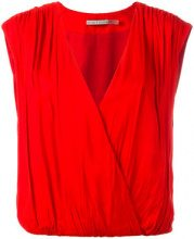 Alice+Olivia - sleeveless wrap top - women - Polyester/Spandex/Elastane/Viscose - S, M - RED