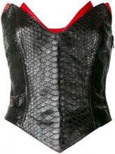 Thierry Mugler Vintage - Corsetto - women - Silk/Python Skin - 42 - BLACK
