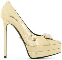 Versace - Medusa platform pumps - women - Leather/Watersnake Skin - 36, 37, 38, 40 - METALLIC
