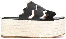 Chloé - Sandali 'Lauren' - women - Calf Leather/Leather - 37, 38, 39, 40 - BLACK