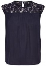 ONLY Lace Sleeveless Top Women Blue
