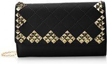 SwankySwans Carla Stud Quilt Faux Leather - Pochette da giorno Donna, Nero (Black), 5x12.5x19.5 cm (W x H x L)