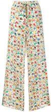 Red Valentino - Pantaloni stampati - women - Silk/Polyester/Acetate - 40, 42, 44, 46, 38 - NUDE & NEUTRALS