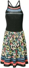 Red Valentino - Vestito a fiori lavorato all'uncinetto - women - Cotton - S - BLACK