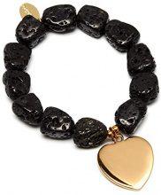 FASHIONNECKLACEBRACELETANKLET, colore: black, cod. ANNA-LOUISEHEART376000