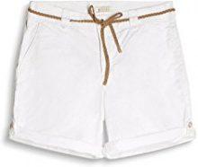 ESPRIT 057ee1c004, Shorts Donna, Bianco (White), 40