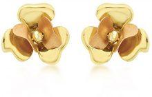 Carissima Gold - Orecchini a Perno da Donna in Oro Bicolore 9K (375)