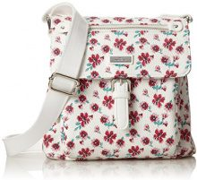 Tom Tailor Acc Rinapu Flower Donna Borse a tracolla Bianco (Weiss) 4x22x23 cm (B x H x T)