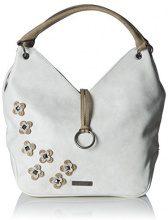 Tamaris Luna Shoulder Bag - Borse a spalla Donna, Weiß (Off White Comb), 10x44x44 cm (B x H T)