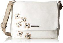 Tamaris Luna Crossbody Bag M - Borse a tracolla Donna, Weiß (Off White Comb), 10x25x28 cm (B x H T)