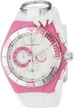 Technomarine Cruise Locker-Orologio da donna al quarzo con Display con cronografo e cinturino in Nylon, 112014, colore: bianco