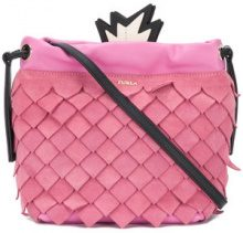 Furla - Borsa a tracolla 'Ananas' - women - Leather/Polyester - OS - PINK & PURPLE