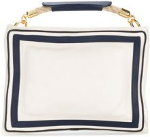 Sacai - Borsa Clutch - women - Leather - OS - WHITE