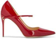 Jennifer Chamandi - Pumps 'Lorenzo 105' - women - Leather/Patent Leather - 36, 37.5, 38, 38.5, 39, 39.5, 40, 41, 42 - RED