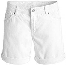 edc by Esprit 056CC1C006-Farbiger Jeans, Shorts Donna, Bianco (White 100), W30