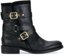 Tommy Hilfiger - Stivali - women - Calf Leather/Cotton/rubber - 37, 38, 39, 40, 41 - BLACK
