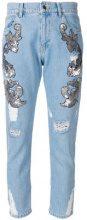 Marco Bologna - Jeans cropped con strappi decorativi - women - Cotton - 38, 40, 42 - BLUE