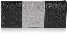 SwankySwans Jem Sparkle Color Block - Pochette da giorno Donna, Nero (Black), 5x10.2x24.5 cm (W x H x L)