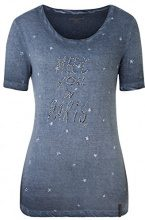 Timezone Paris, T-Shirt Donna, Blau (Eventide Blue 3176), XL