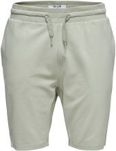 ONLY & SONS Solid Sweat Shorts Men Green