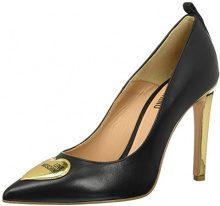 Love Moschino W.Shoe, Scarpe con Tacco Donna, Multicolore (Black chalk), 39 EU