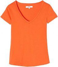 FIND Shirt con Scollo a V Donna, Arancione (Watermelon), 44 (Taglia Produttore: Medium)