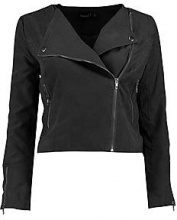 Petite Lily Embroidered Suedette Biker Jacket